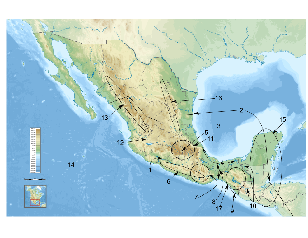 map of mexico non quiz version